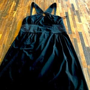 BCBG Maxazria black w/ white detail dress size S